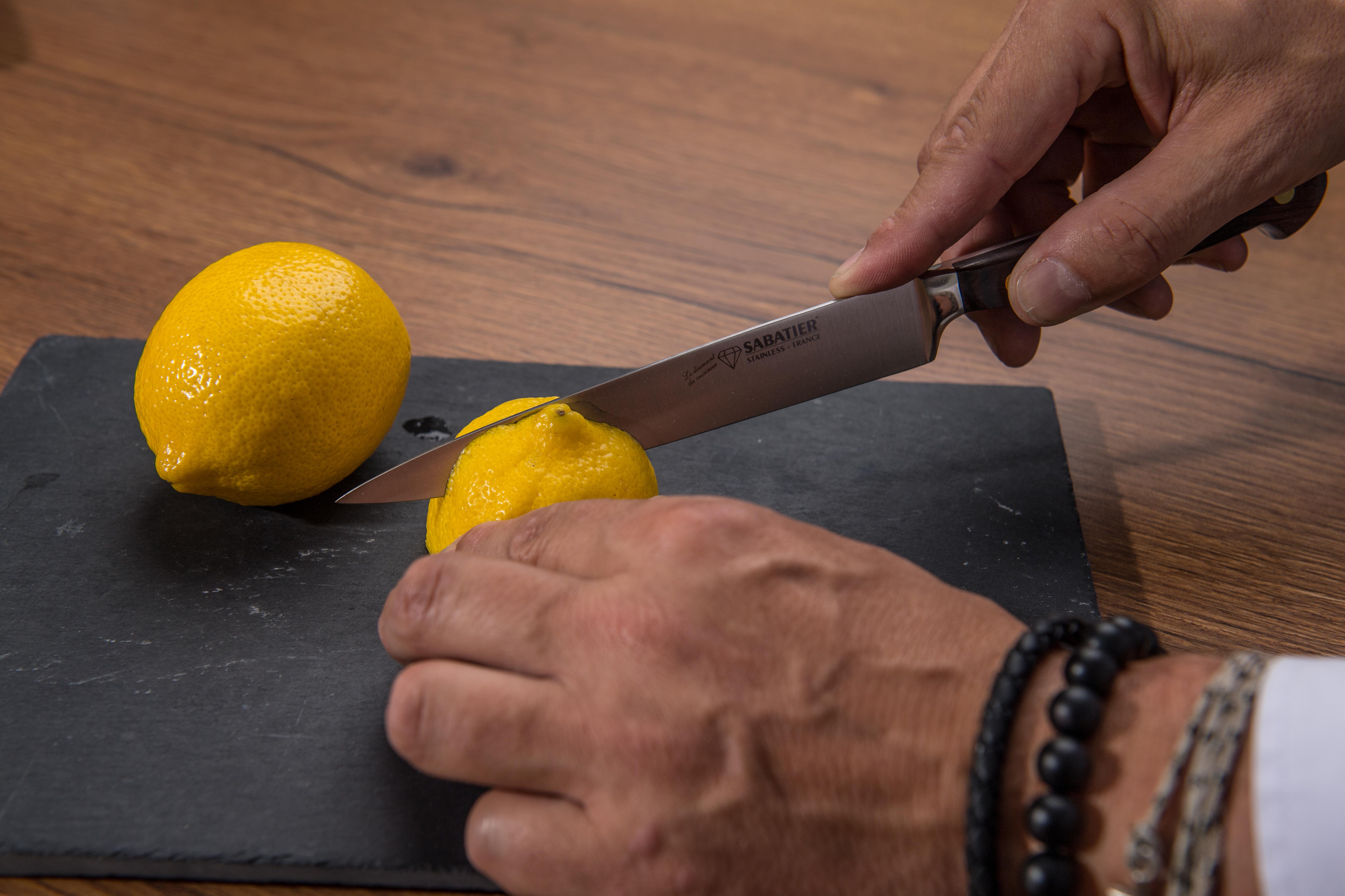 Couteau tranchelard - SABATIER Diamant - Citron
