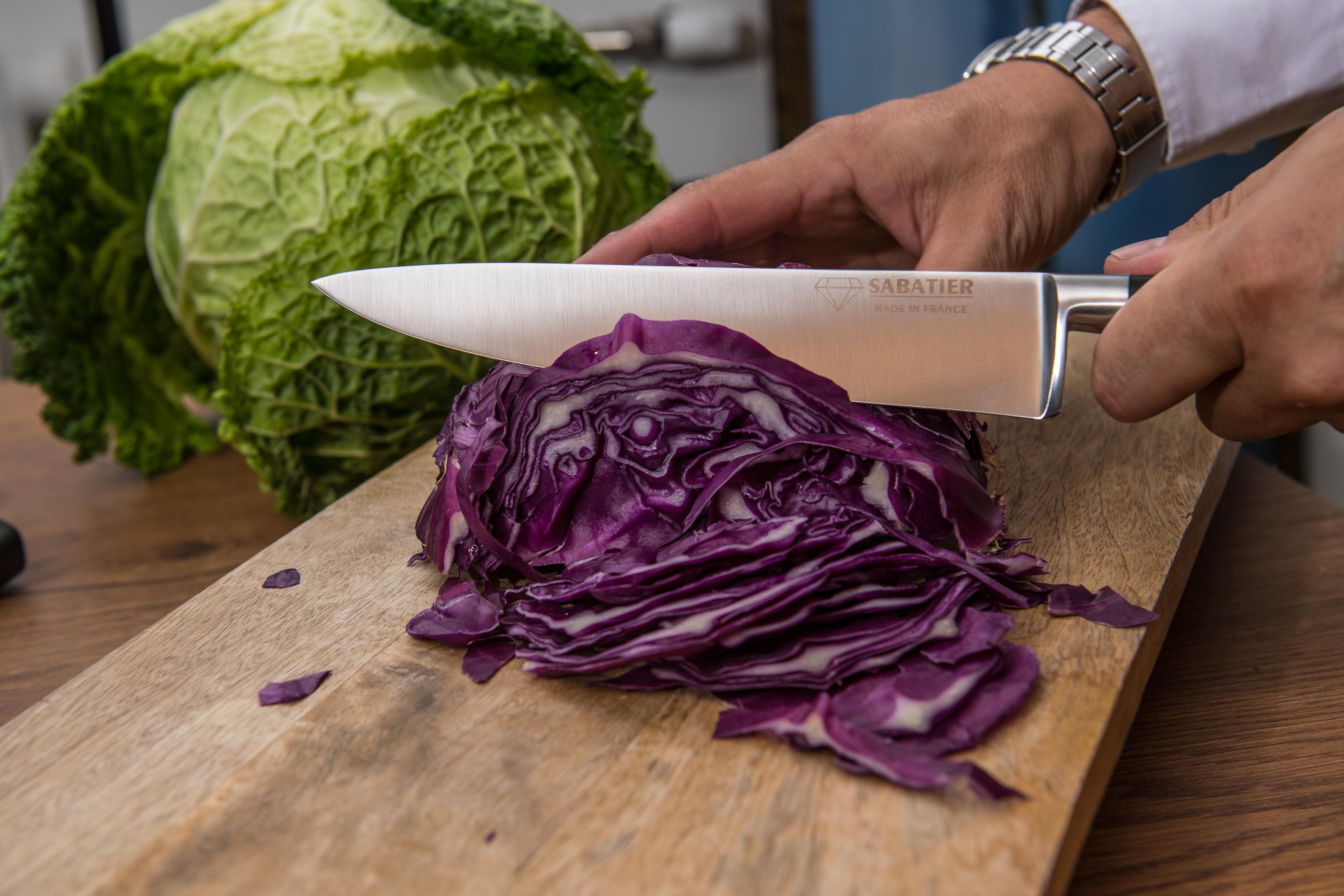 Couteau cuisine - SABATIER Diamant - Choux rouge