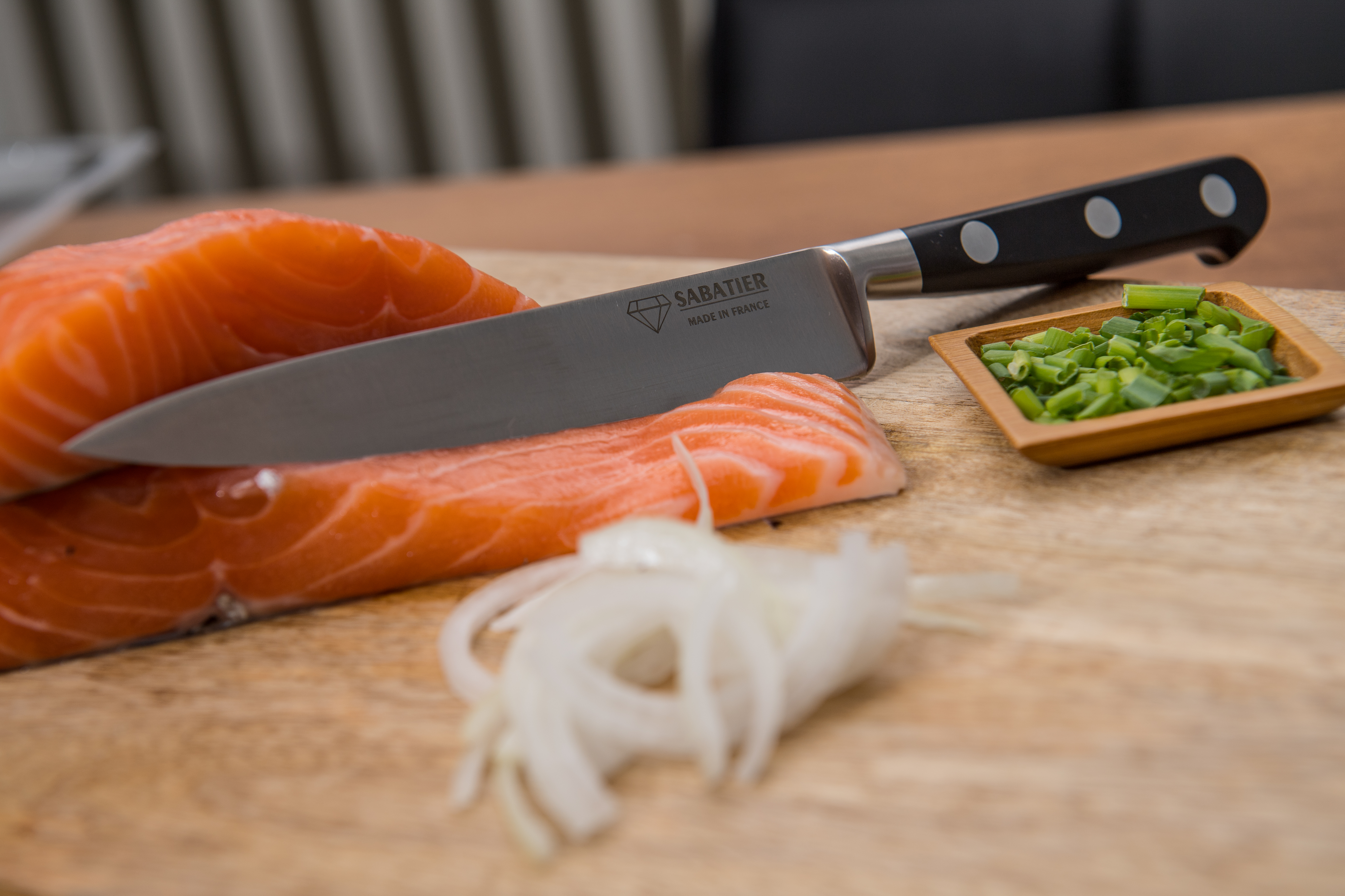 Couteau filet de sole - SABATIER Diamant - Saumon